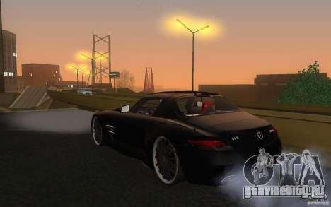Mercedes Benz SLS HAMANN для GTA San Andreas вид сзади слева