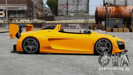 Audi R8 Spider Body Kit Final для GTA 4 вид слева