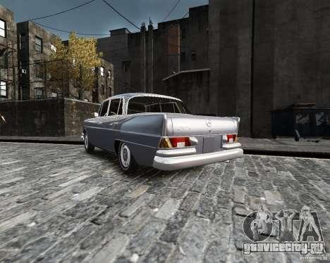 Mercedes-Benz W111 для GTA 4 вид слева