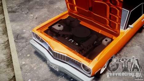 Dodge Dart GT 1975 [Final] для GTA 4 вид изнутри