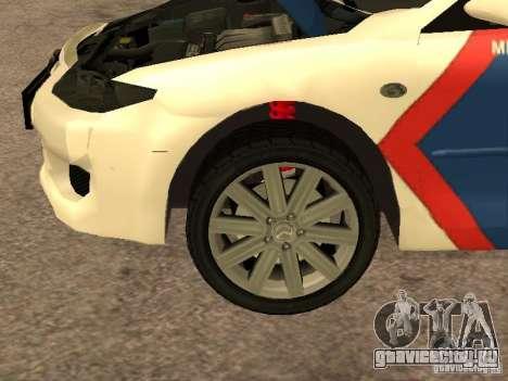 Mazda 6 Police Indonesia для GTA San Andreas вид изнутри
