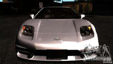 Acura NSX Stock для GTA San Andreas вид изнутри