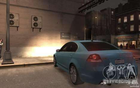 Pontiac G8 GXP для GTA 4 вид сзади слева