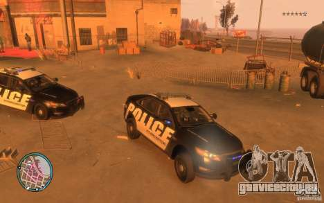 Ford Taurus Police для GTA 4 вид слева