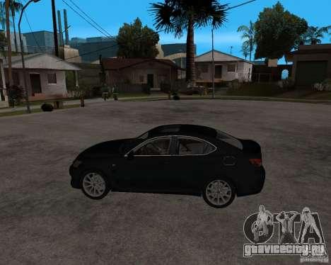 Lexus IS-F v2.0 для GTA San Andreas вид слева