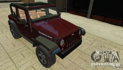 Jeep Wrangler Rubicon 2012 для GTA 4 вид сбоку