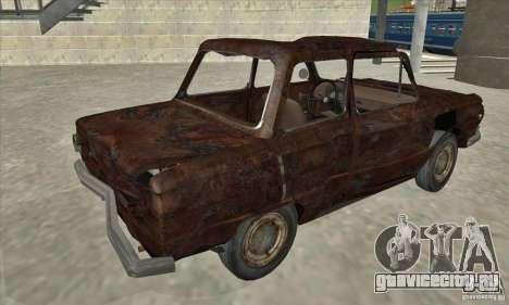 ЗАЗ 968 Заброшенный v.2 для GTA San Andreas вид сзади