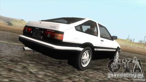 Toyota Sprinter Trueno AE86 GT-Apex для GTA San Andreas вид справа