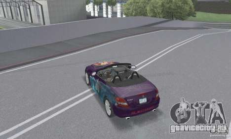 Mercedes-Benz SLK 350 для GTA San Andreas двигатель