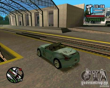 Nissan 370Z Roadster для GTA San Andreas вид сзади слева
