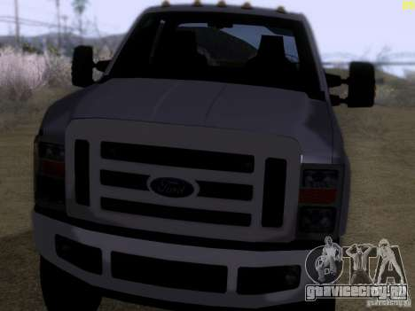 Ford F350 Super Dute для GTA San Andreas вид слева