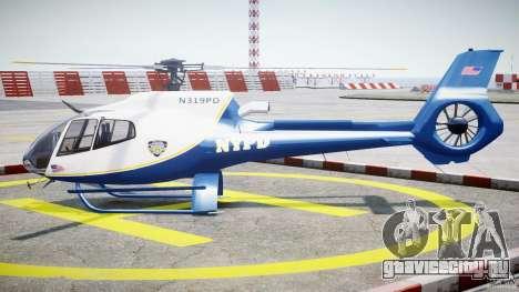 Eurocopter EC 130 NYPD для GTA 4 вид слева