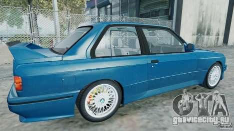 BMW M3 E30 FINAL для GTA 4 вид слева