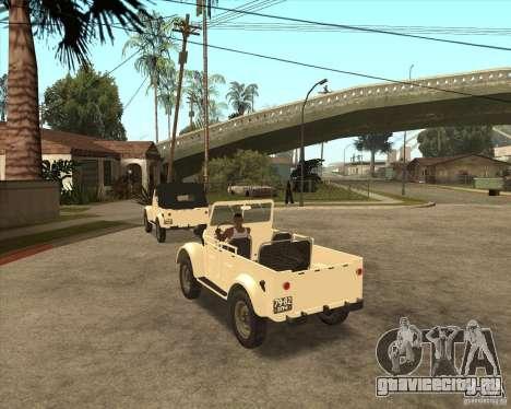 ГАЗ 69А для GTA San Andreas вид справа