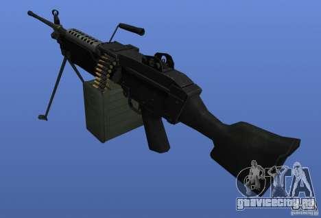 Пулемёт M249SAW для GTA 4 второй скриншот