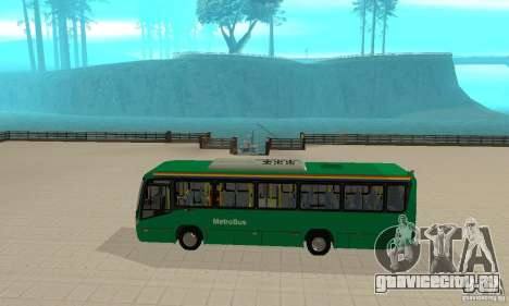 MetroBus of Venezuela для GTA San Andreas вид сзади слева