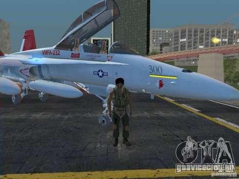 FA-18D Hornet для GTA San Andreas вид сзади слева