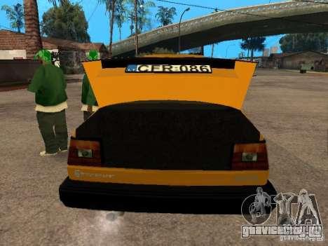 Volkswagen Jetta для GTA San Andreas вид сзади