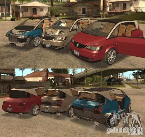 Renault Avantime Mild Tuning для GTA San Andreas вид изнутри