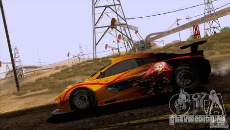 Покрасочные работы McLaren MP4-12C Speedhunters для GTA San Andreas вид изнутри