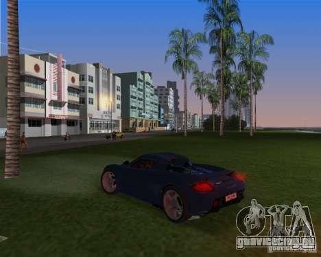 Porsche Carrera GT для GTA Vice City вид сзади слева