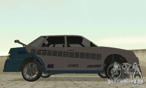 ВАЗ 21099 PROstreet v.2 для GTA San Andreas вид сзади слева