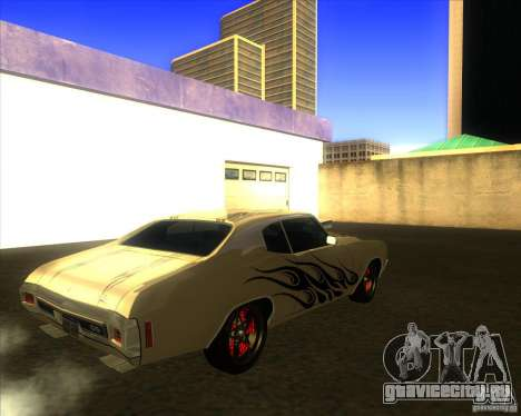 Chevy Chevelle SS Hell 1970 для GTA San Andreas вид справа