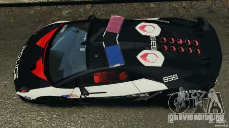 Lamborghini Sesto Elemento 2011 Police v1.0 RIV для GTA 4 вид справа