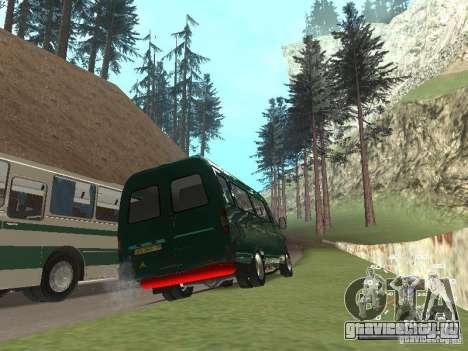 ГАЗ 32213 для GTA San Andreas вид сзади