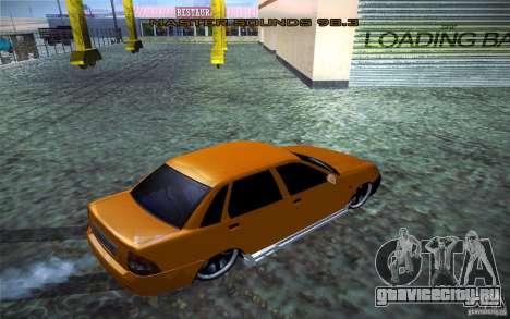 Лада Приора для GTA San Andreas вид сзади слева