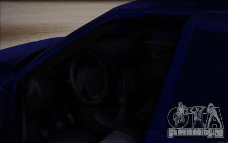 ВАЗ 2110 Качественная для GTA San Andreas вид снизу