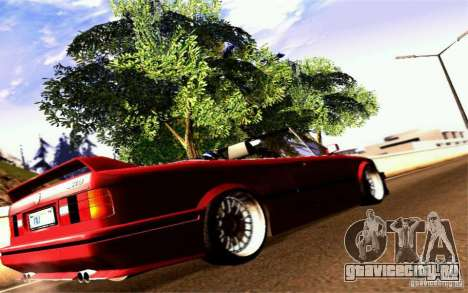 BMW E30 M3 Cabrio для GTA San Andreas вид справа