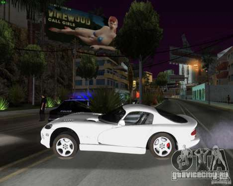Dodge Viper для GTA San Andreas вид сзади слева