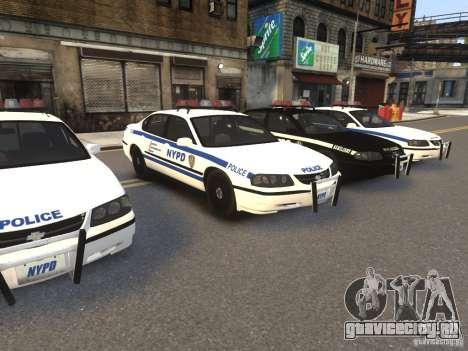 Chevrolet Impala 2003 NYPD V2.0 для GTA 4 вид слева