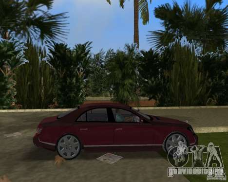 Maybach 57 для GTA Vice City вид сзади