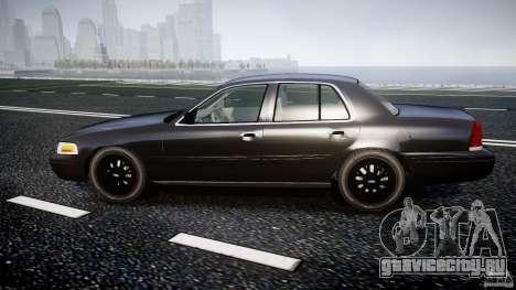 Ford Crown Victoria 2003 v2 FBI для GTA 4 вид слева