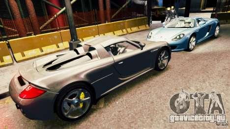 Porsche Carrera GT для GTA 4 вид изнутри