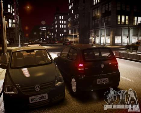 Volkswagen Fox 2011 для GTA 4 вид изнутри