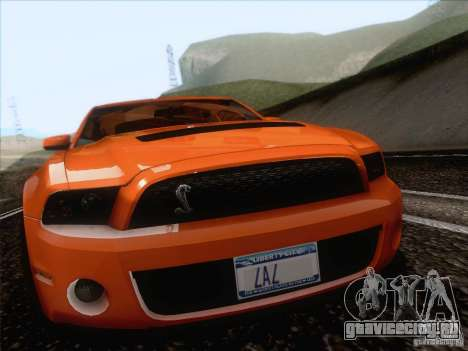 Ford Shelby Mustang GT500 2010 для GTA San Andreas вид сзади