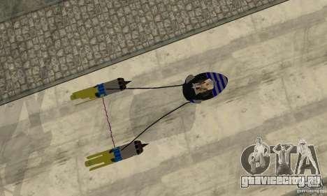 Star Wars Racer для GTA San Andreas вид сзади