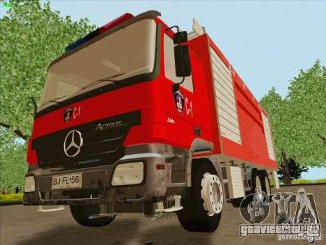 Mercedes Benz Actros Bomberos C1 для GTA San Andreas вид изнутри