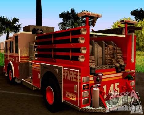 Pumper Seagrave Marauder F.D.N.Y для GTA San Andreas вид справа