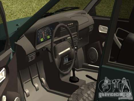 ВАЗ 2109 Final для GTA San Andreas вид справа