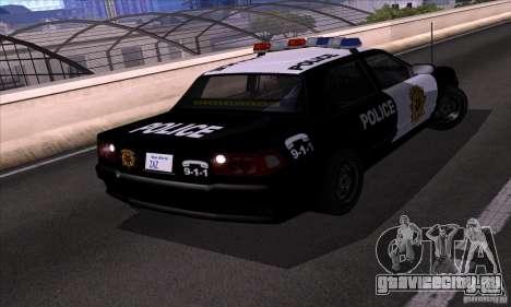 NFS Undercover Police Car для GTA San Andreas вид справа