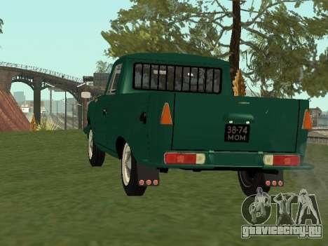 ИЖ 27151 PickUp для GTA San Andreas вид сзади слева