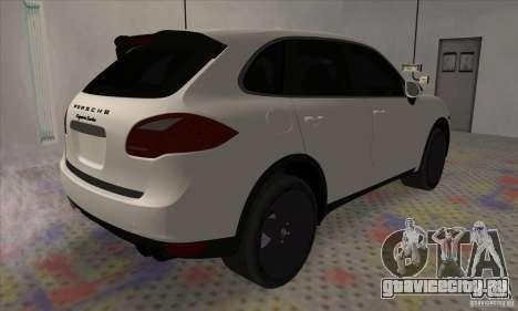 Porsche Cayenne Turbo Black Edition для GTA San Andreas вид сзади слева