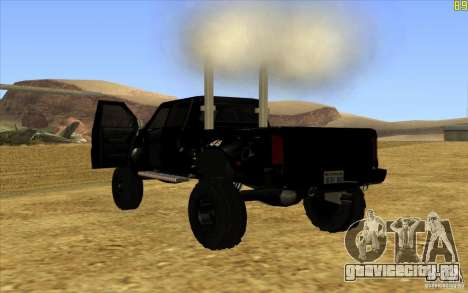GMC Topkick Ironhide TF3 для GTA San Andreas вид сзади слева