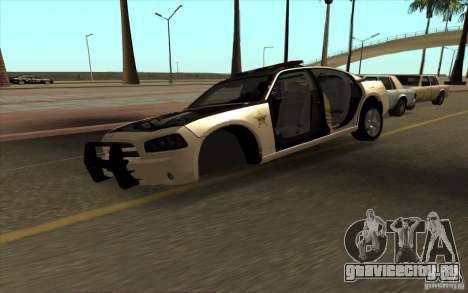 County Sheriffs Dept Dodge Charger для GTA San Andreas вид справа