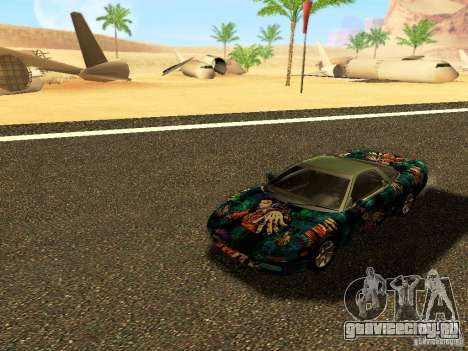Honda NSX Custom для GTA San Andreas вид изнутри