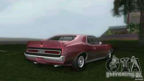 AMC Javelin 1971 для GTA Vice City вид сзади слева